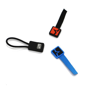 Custom plastic rubber logo zipper pull tabs with company logo