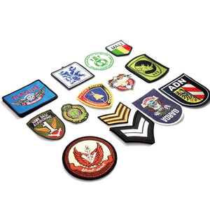 Custom iron on embroidery badges with high quality and good price