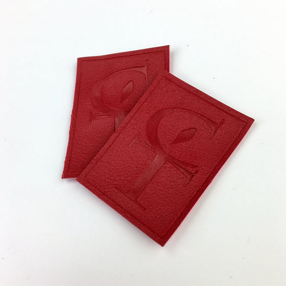 500 Embossed manufacturer low price popular design custom personalized leather label