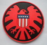 Excellent quality USA Sparta logo national flag embossed PVC rubber patch