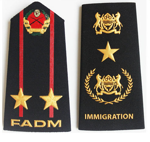 Factory Custom military uniform soft metal epaulette