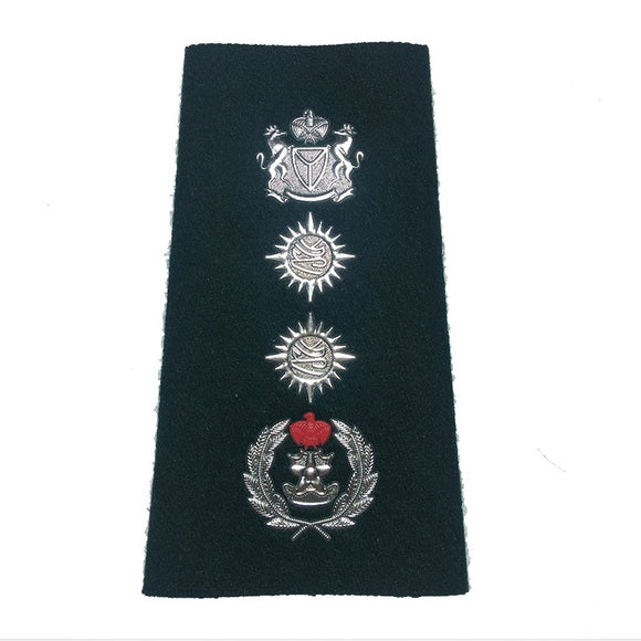 Factory Custom military black soft metal airline epaulettes