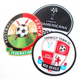 Custom Heat Transfer Patches Soccer Flocking Patch