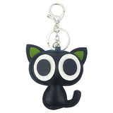 High Grade Leather Keychain for Car Key Cat Shaped Keychain for Bag Cloth