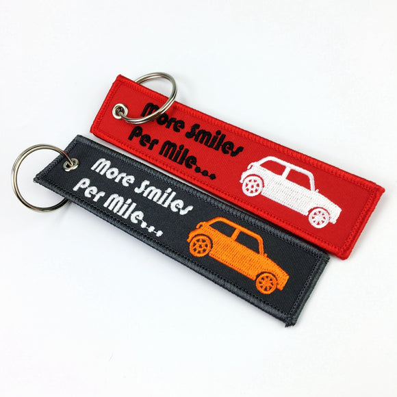 Factory Price Fashionable High Quality Free Samples Custom Woven Keychain/keyring Embroidery Key chain