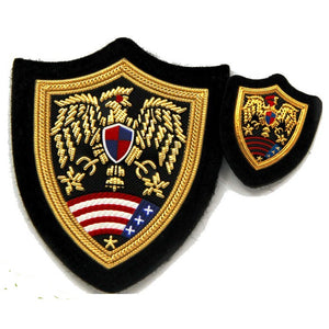 Wholesale Custom Military Badge Uniform Patch Cap Badge Used in Military