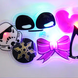 PVC light up custom flashing led badges