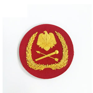 OEM Design army uniform cap badge pvc badge
