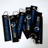 Wholesale custom keychain customizable cotton metal personalized keyrings cloth fancy key chains for gift