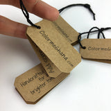 500 custom fashion Kraft hang tags for clothing high quality hang tags