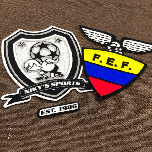 custom heat transfer patches flocking patches with logo