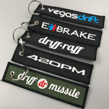 custom logo promotional embroidered key tag key chain