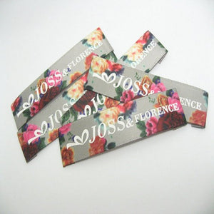 500 satin printed label , printed label ,Care wash label