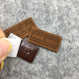 500 Recyclable Soft Suede Leather Badge For Bags