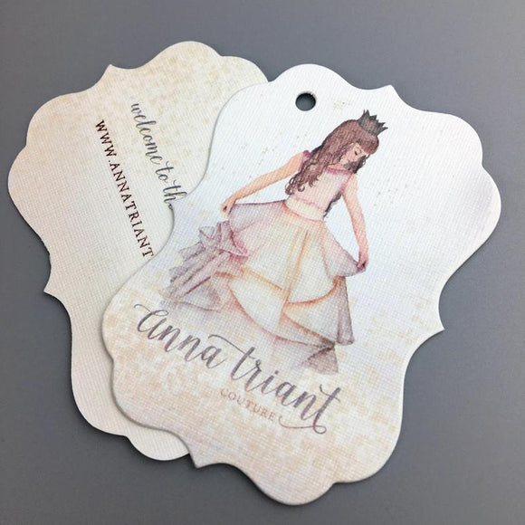 500 swing tags, custom swing tags, custom hang tags, printed swing tags, clothing swing tags printing