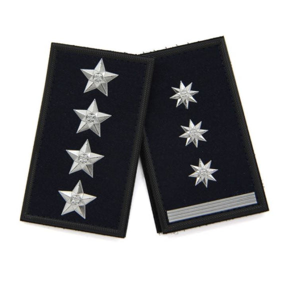 Metal Star Epaulettes