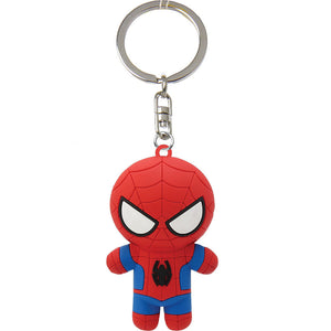 Soft pvc rubber keychain keyholder 3d rubber keychain for university graduation gift