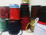 5mm 21colours Twisted Decorative Rope Twisted Cord Braided Rope Cusion Edging