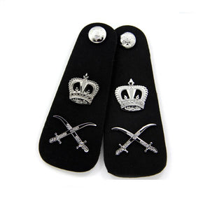Silver Button Metal Epaulettes