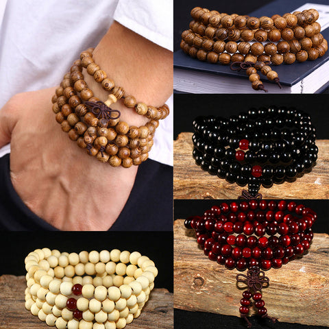 2019 (108) Beads Sandalwood Natural Wood Prayer Beaded Bow Bracelets & Bangles ( MEN and LADIES) UNISEX FREE SHIPPING! Mr. DAZZLE said they all must GO! Marked DOWN 3% under WHOLESALE PRICES! ORDER YOURS TODAY! ONLY 300 LEFT!