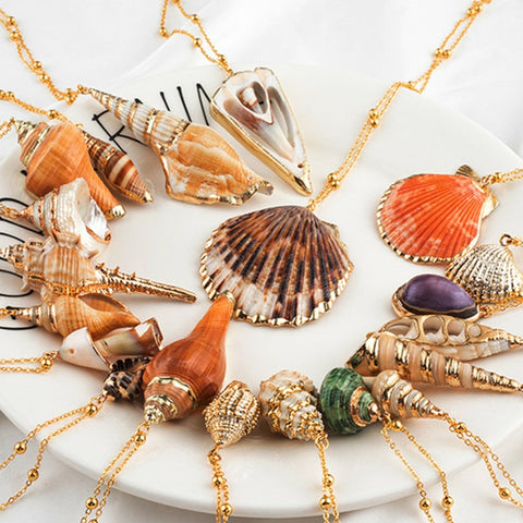 2019 TWENTY Styles Seashell Pendant Necklaces FREE SHIPPING! THE MANY styles! THESE are hard to find and priced 87% cheaper then in store RETAIL! FREE USA Shipping! ORDER TODAY !! ONLY 433 LEFT!