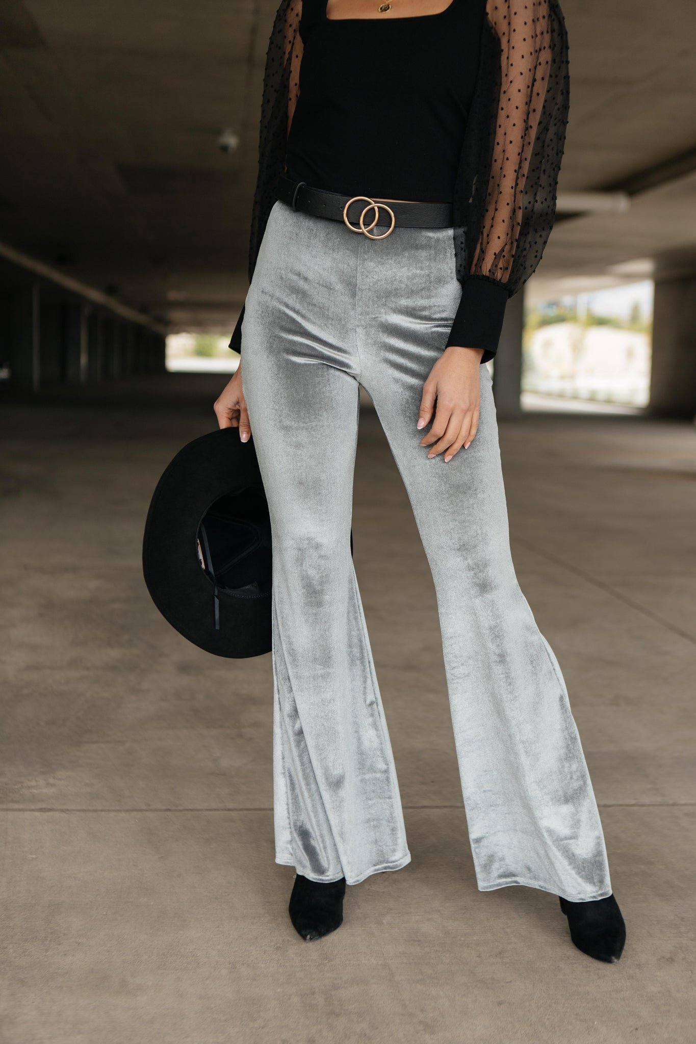 Get Your Groove On Velvet Bell Bottoms