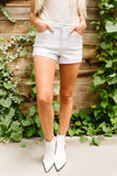 Clean Slate White Jean Shorts