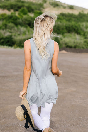 Ruffled V Babydoll Dress In Sage