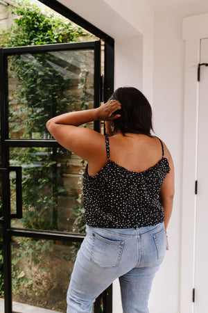 Ruffles & Dots Camisole In Black