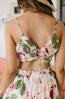 Tropical Fever Crop Top In Ivory