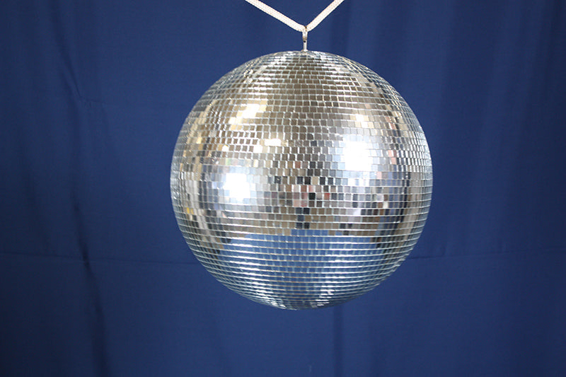 "Mirror Disco Ball, 16"" w/ motor"