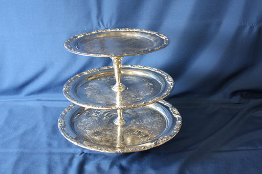 3 Tier Tray - silverplate