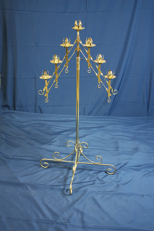 Brass Branch Candelabras, pair