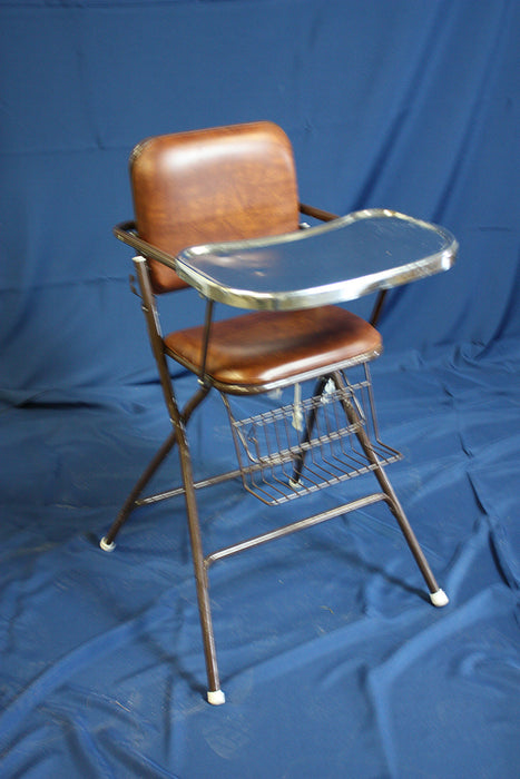 Metal High Chair with tray