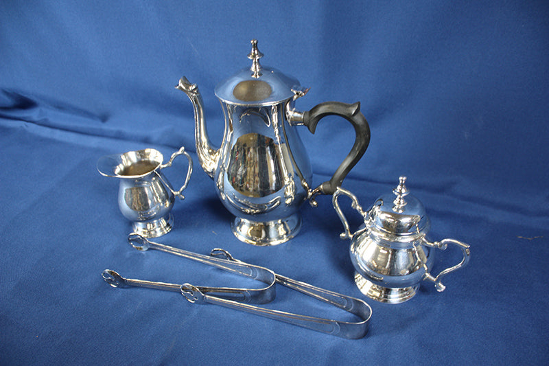 Silver Sugar and Creamer Set