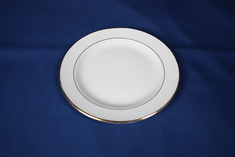 Ivory China with Gold Plate, 7""
