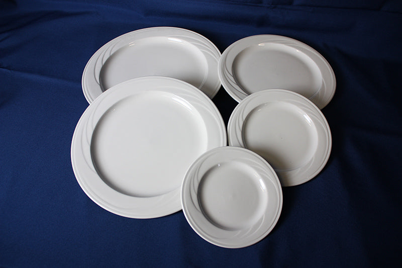 Pale White China, Plate 6""