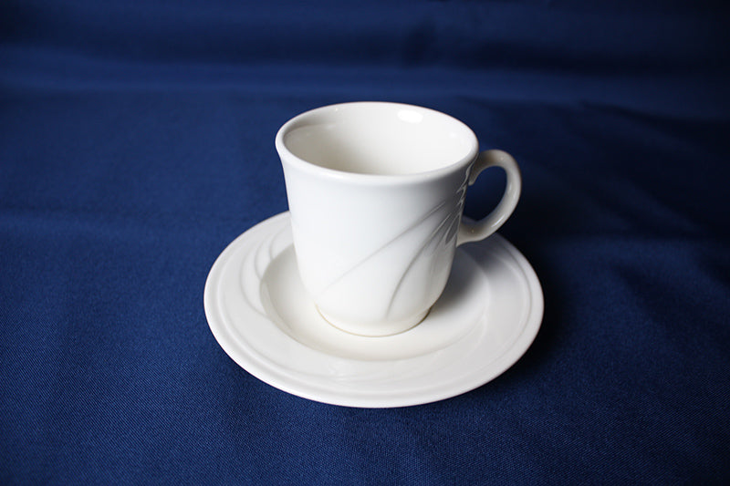 Pale White China Coffee Cup