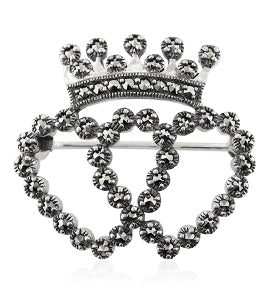 image of marcasite set in a brooch