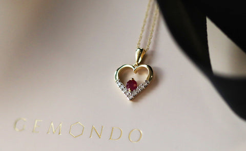 Free ruby & diamond heart pendant when you spend £200