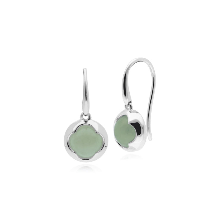 Geometric Jade Circular Prism Drop Earrings Image 1
