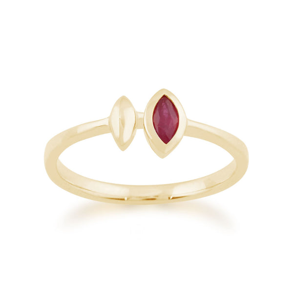 Gemondo 9ct Yellow Gold 0.15ct Ruby Ring Image 1