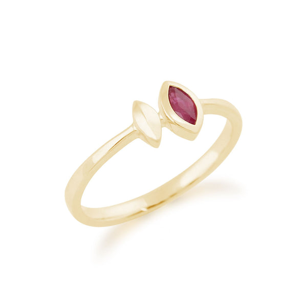Gemondo 9ct Yellow Gold 0.15ct Ruby Ring Image 2