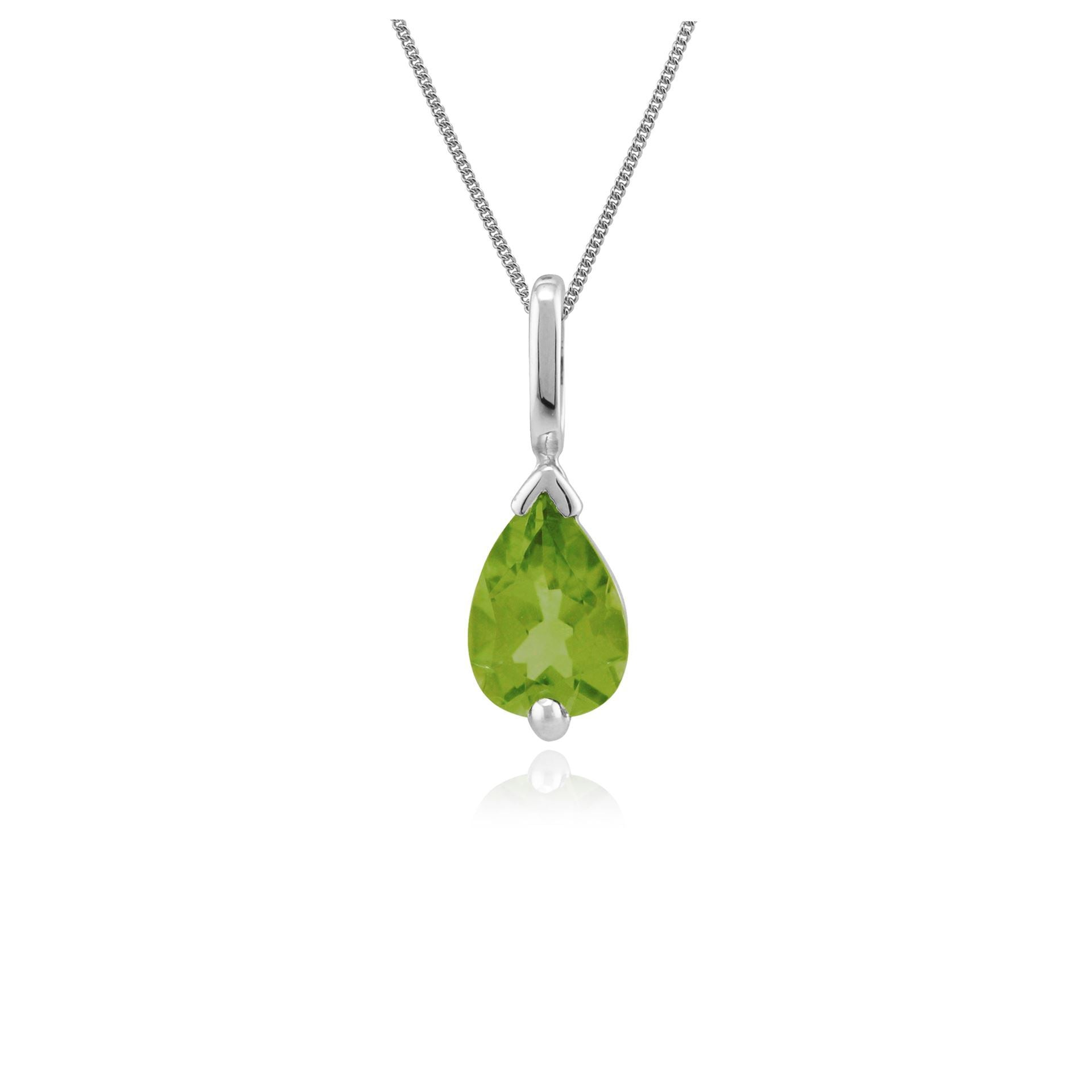 9ct White Gold 0.72ct Ruby Pear Shaped Single Stone Pendant on Chain