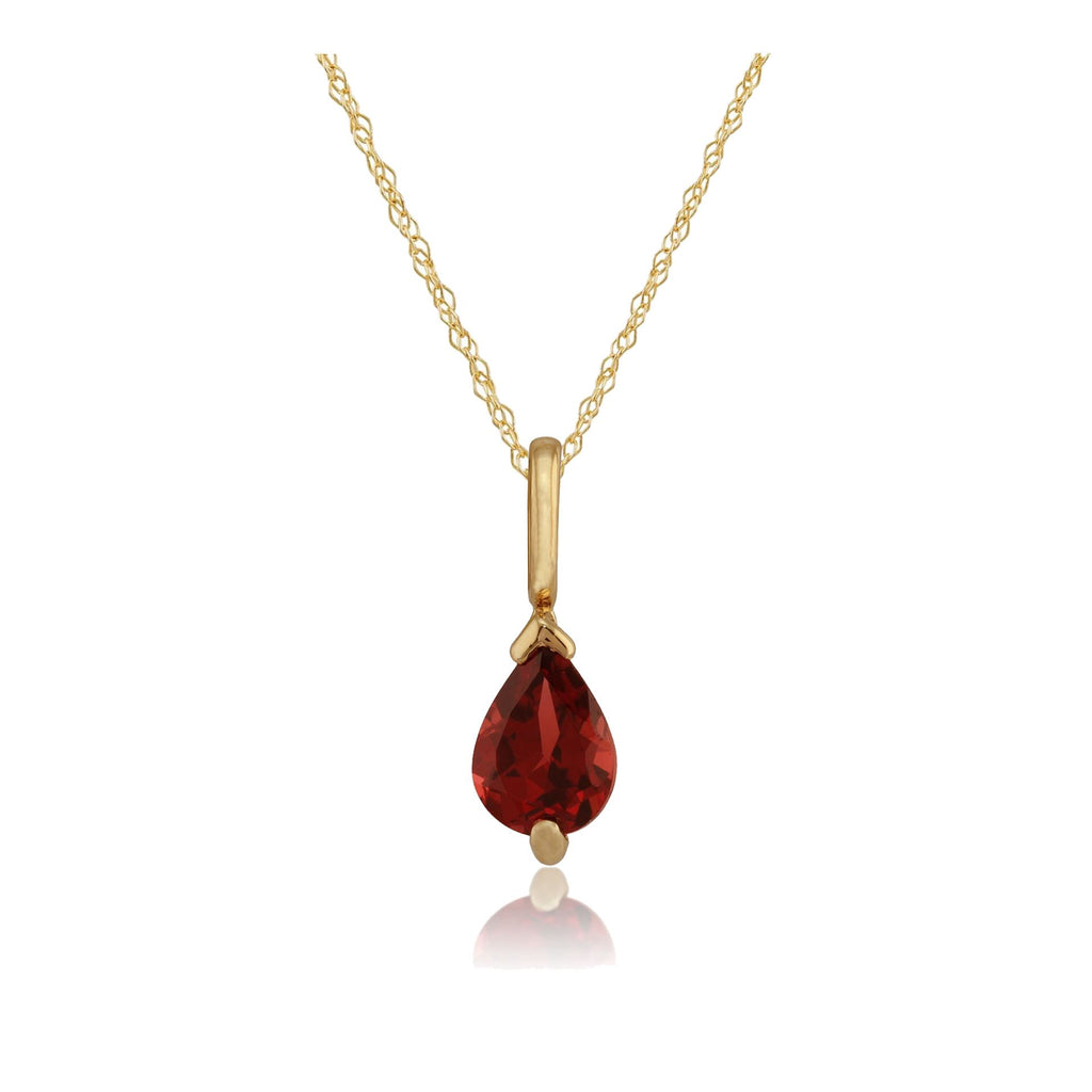 9ct Gold Citrine teardrop necklace Pendant no chain Made in UK Gift Boxed