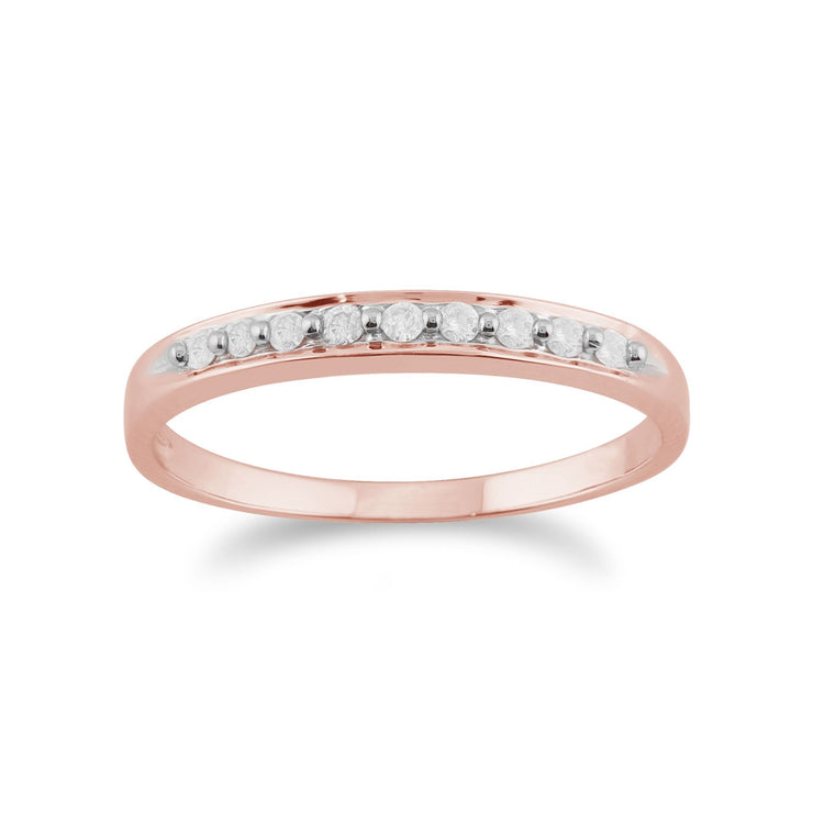 Classic Round Diamond Eternity Ring in 9ct Rose Gold