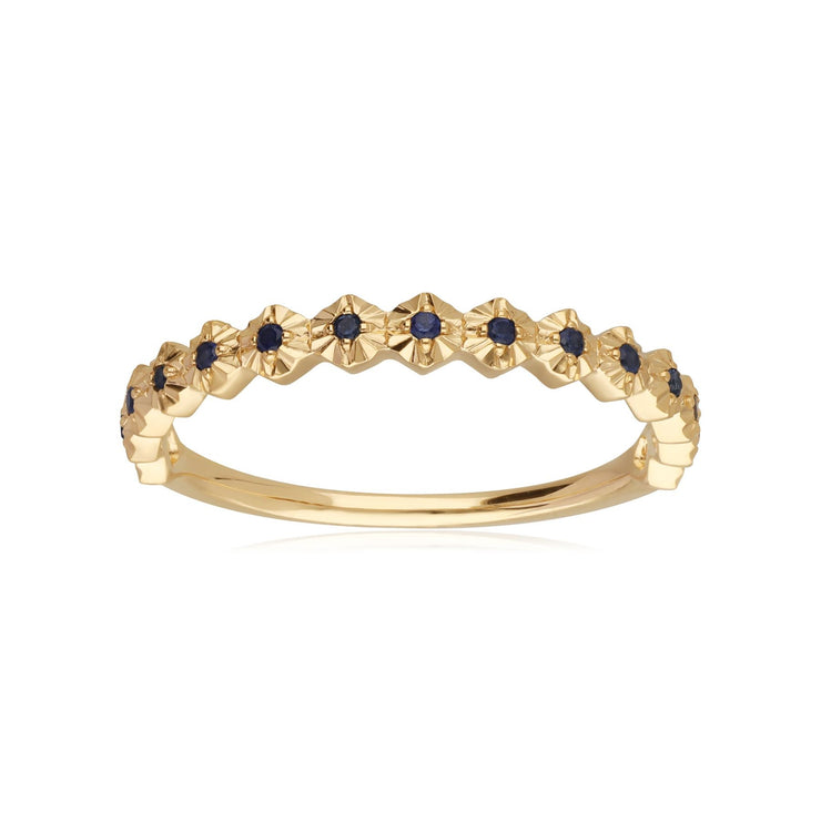 18ct Yellow Gold 0.09ct Sapphire Band Ring