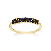 Contemporary 0.41ct Pavé Sapphire Cluster Ring in 9ct Yellow Gold