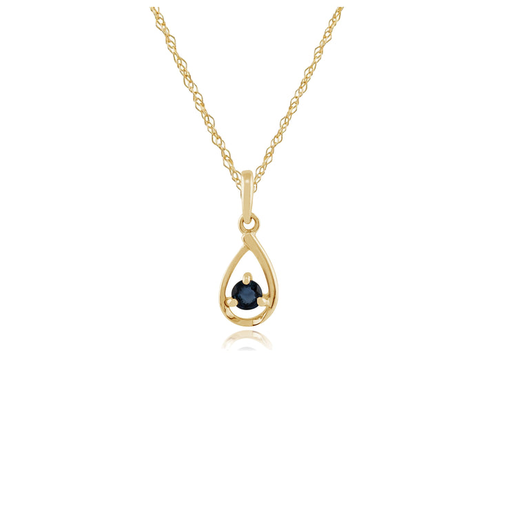 Classic Sapphire Pendant on Chain Image 1