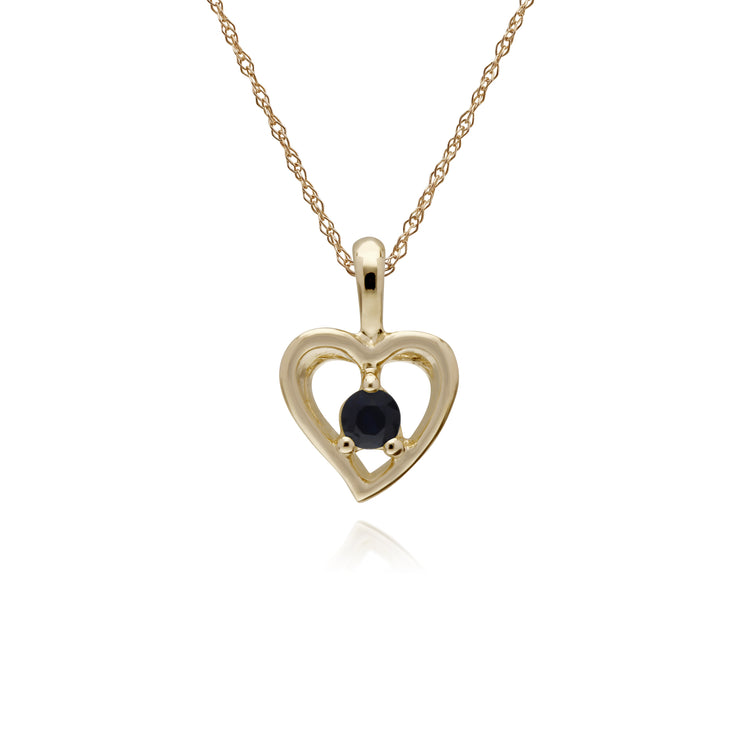 Gemondo 9ct Yellow Gold Ruby Single Stone Heart 45cm Necklace